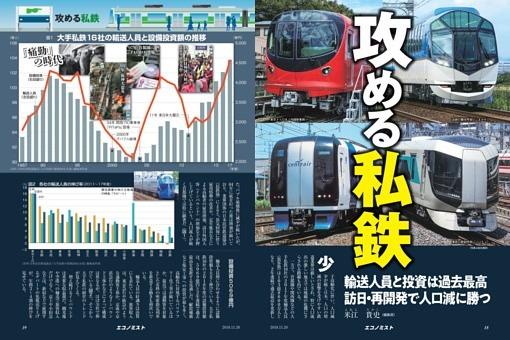 〔特集〕攻める私鉄 輸送人員と投資は過去最高 訪日・再開発で人口減に勝つ=米江貴史