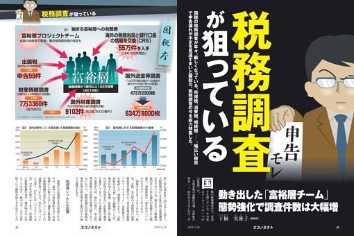 〔特集〕税務調査が狙っている 動き出した「富裕層チーム」 態勢強化で調査件数は大幅増=下桐実雅子
