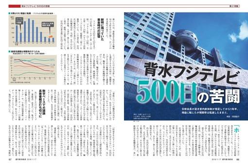【第2特集】背水フジテレビ 500日の苦闘