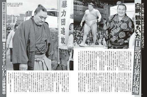 白鵬、鶴竜もいた「日馬富士の暴行現場」