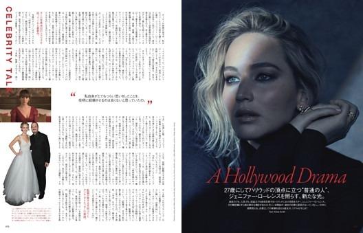 "FEATURES  A Hollywood Drama  27歳にしてハリウッドの頂点に立つ""普通の人""、ジェニファー・ローレンスを照らす、新たな光。"