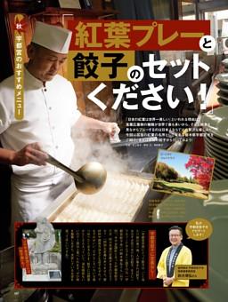 秋 宇都宮のおすすめメニュー「紅葉プレーと餃子のセットください!」