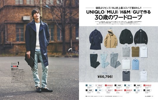 UNIQLO/MUJI/H&M/GUで作る30歳のワードローブ